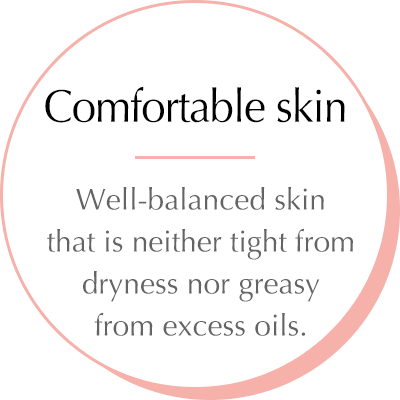 Touchable skin - For completely comfortable skin without any shininess